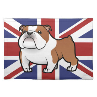 Cartoon Pet with Flag Placemat