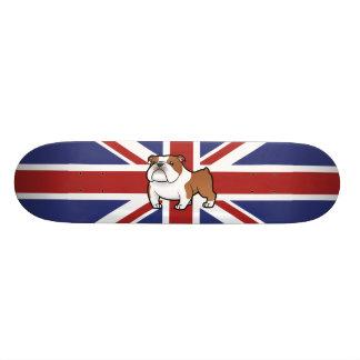 Cartoon Pet with Flag Skate Board Deck