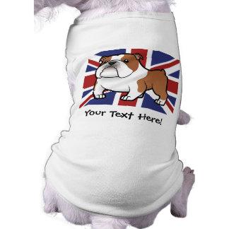 Cartoon Pet with Flag Sleeveless Dog Shirt
