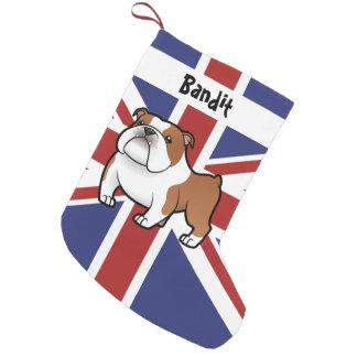 Cartoon Pet with Flag Small Christmas Stocking
