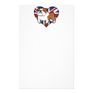 Cartoon Pet with Flag Stationery