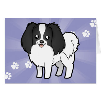 Cartoon Phalene / Japanese Chin Card
