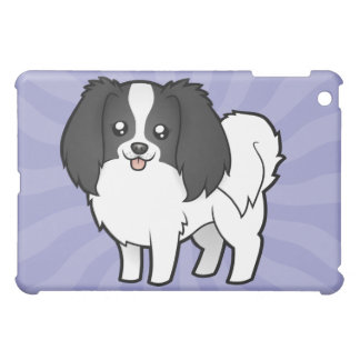 Cartoon Phalene / Japanese Chin iPad Mini Cases