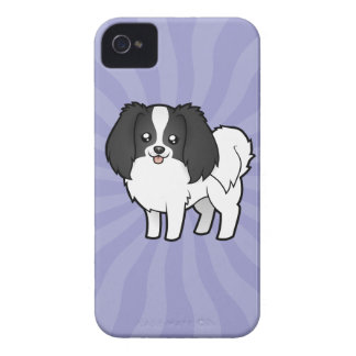 Cartoon Phalene / Japanese Chin iPhone 4 Cover