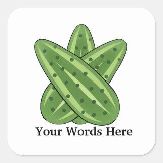 Cartoon Pickle add words sticker