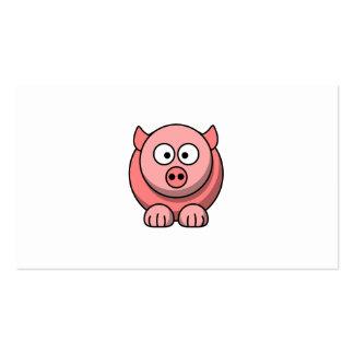 Cartoon pig business card templates