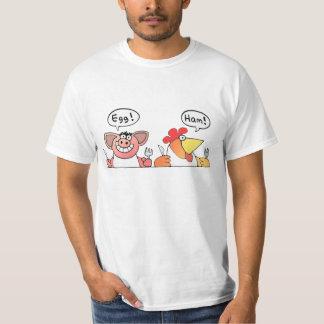 Cartoon Pig + Cartoon  Chicken Breakfast T-Shirt