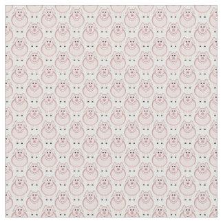 Cartoon Pig U Pick Background Color Fabric