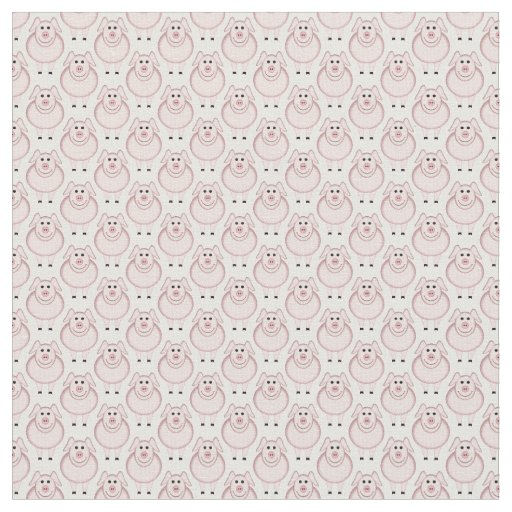 Cartoon Pig U Pick Background Colour Fabric