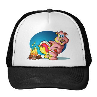 Cartoon Piglet Mesh Hat