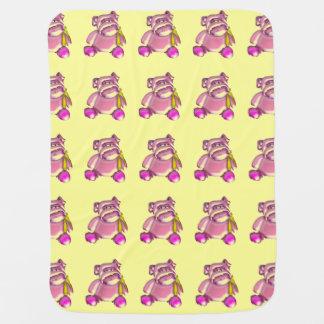Cartoon Pigs Baby Blanket