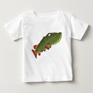 Cartoon pike fish swimming baby T-Shirt