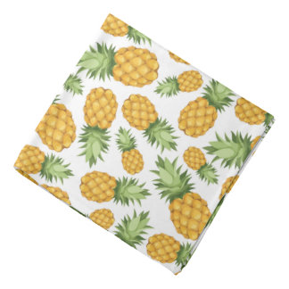 Cartoon Pineapple Pattern Bandana