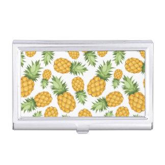 Cartoon Pineapple Pattern Business Card Holder