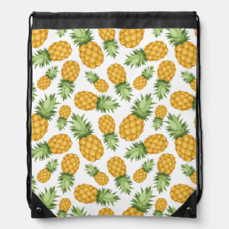 Cartoon Pineapple Pattern Drawstring Bag