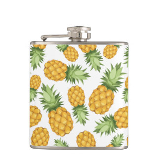 Cartoon Pineapple Pattern Flask