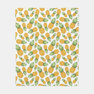 Cartoon Pineapple Pattern Fleece Blanket