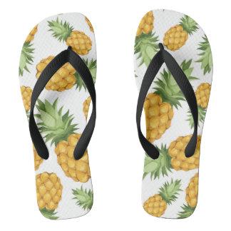 Cartoon Pineapple Pattern Flip Flops