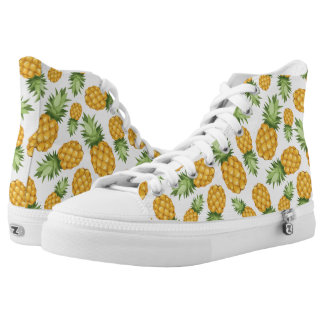 Cartoon Pineapple Pattern High Tops