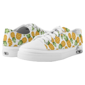 Cartoon Pineapple Pattern Low Tops