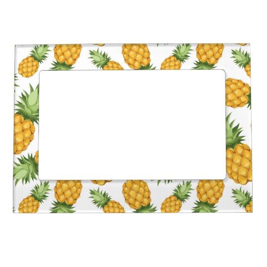 Cartoon Pineapple Pattern Magnetic Frame