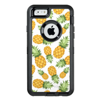 Cartoon Pineapple Pattern OtterBox Defender iPhone Case