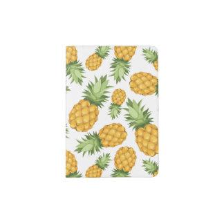 Cartoon Pineapple Pattern Passport Holder
