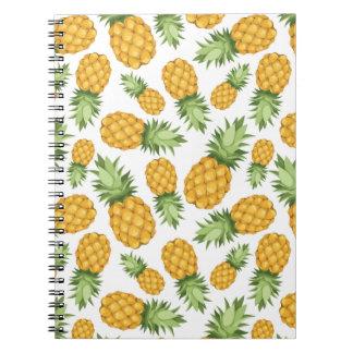 Cartoon Pineapple Pattern Spiral Notebook