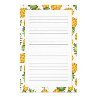 Cartoon Pineapple Pattern Stationery Design