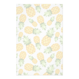 Cartoon Pineapple Pattern Stationery Paper