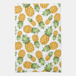 Cartoon Pineapple Pattern Tea Towel