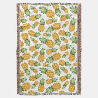 Cartoon Pineapple Pattern Throw Blanket