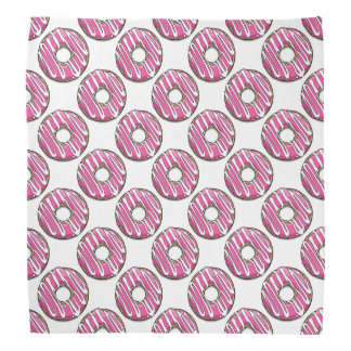 Cartoon Pink Donut with Icing Bandanna