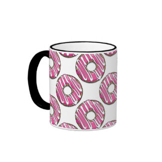 Cartoon Pink Donut with Icing Mug