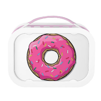 Cartoon Pink Donut With Sprinkles Lunch Box