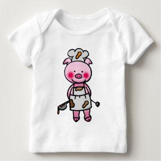 Cartoon pink pig chef baby T-Shirt
