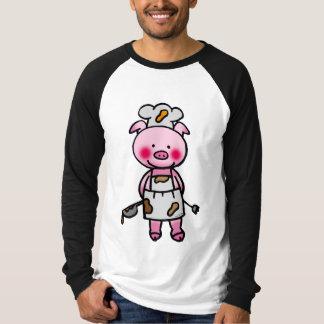 Cartoon pink pig chef T-Shirt