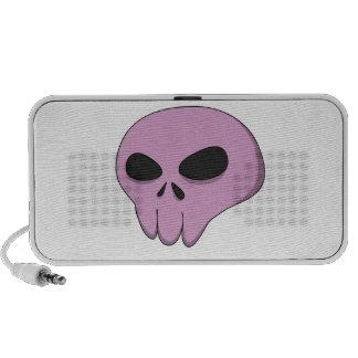cartoon pink skull portable speakers