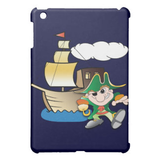 Cartoon Pirate and Ship Case For The iPad Mini