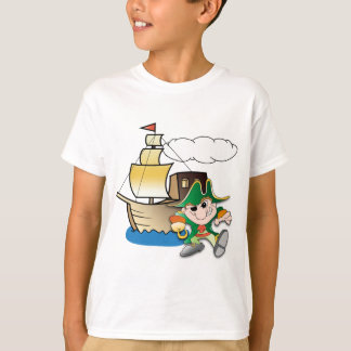Cartoon Pirate and Ship T-Shirt