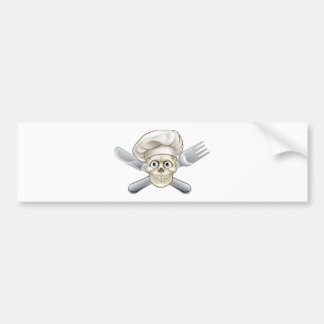 Cartoon Pirate Crossbones Chef Bumper Sticker