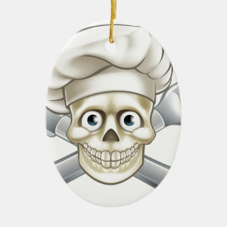Cartoon Pirate Crossbones Chef Christmas Ornament