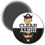 Cartoon Pirate Dishwasher Magnet Magnet