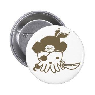 Cartoon Pirate Octopus Button