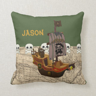 Cartoon Pirate Ship Personalize Cushion