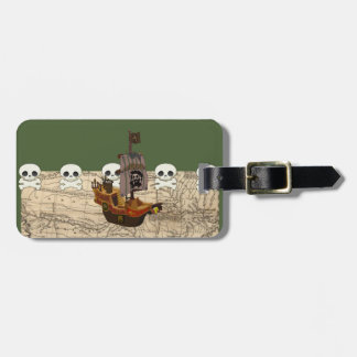 Cartoon Pirate Ship Personalize Luggage Tag