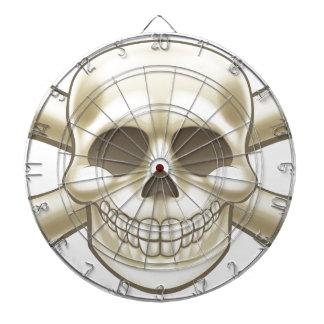 Cartoon Pirate Skull and Crossbones Dartboard With Darts