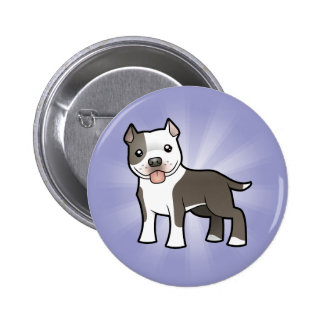 Cartoon Pitbull / American Staffordshire Terrier 6 Cm Round Badge