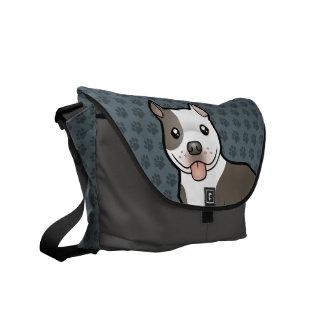 Cartoon Pitbull / American Staffordshire Terrier Commuter Bag