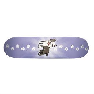 Cartoon Pitbull / American Staffordshire Terrier Skate Board Deck